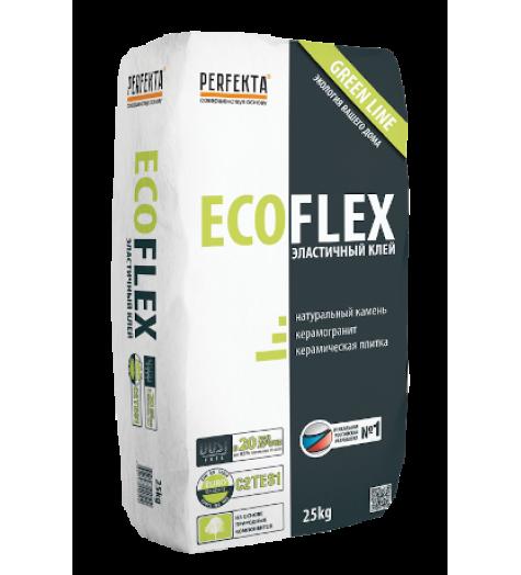 Клей для натурального камня и керамогранита эластичный Ecoflex Green line Dust free, 25 кг