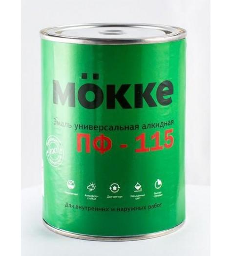 Эмаль алкид. ПФ-115 MOKKE зеленый 0,9 кг
