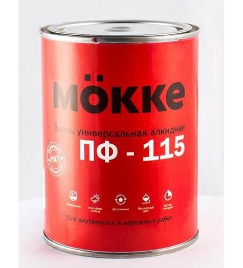 Эмаль алкид. ПФ-115 MOKKE красный 0,9 кг