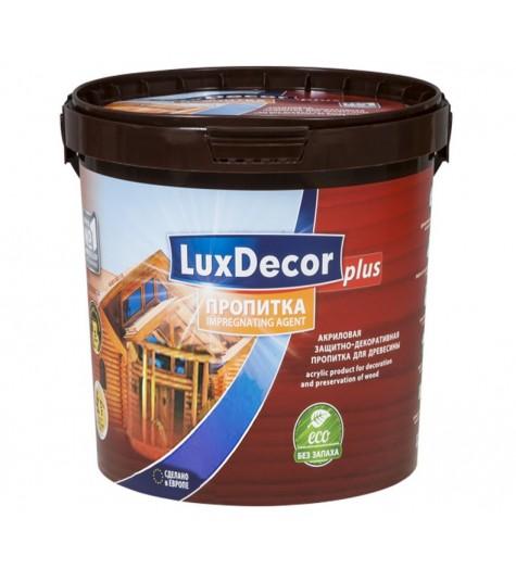 Пропитка д/дерева LUXDECOR Plus серый 1л