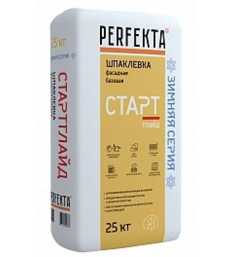 Шпаклевка цементная базовая Perfekta Старт Глайд 25кг ЗИМА