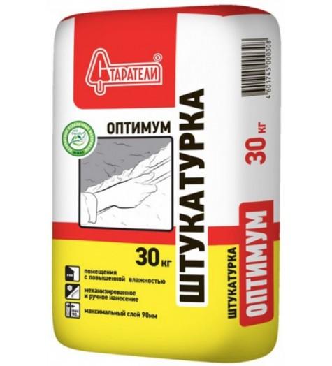 Штукатурка  Старатели гипсовая Оптимум 30 кг. к/ц